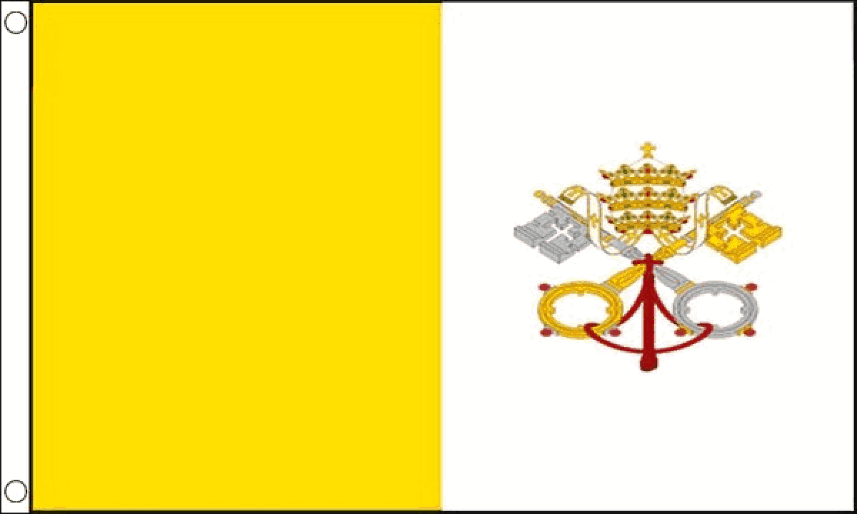 Vatican City Traditional Sewn Flag