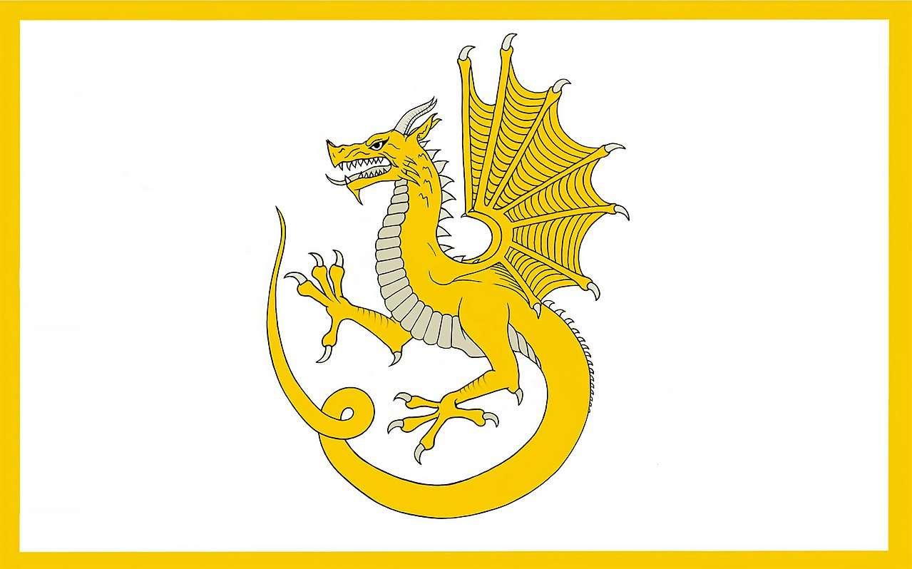 6 Y Ddraig Aur Owain Glyndŵr Professional Quality Flag border=