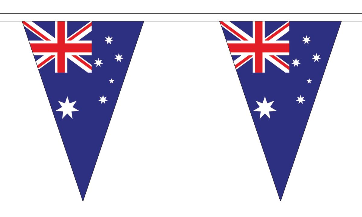 12 Flags Triangular Australia 5M Triangle Flag Bunting