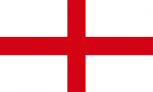 England Flag St George's Cross red cross on white