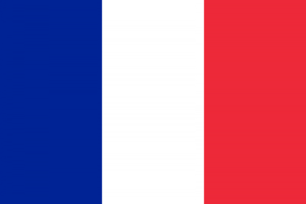 French Flag Tricolour of Blue White and Red