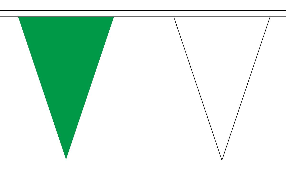 12 Flags Orange /& White Triangle Bunting 5m