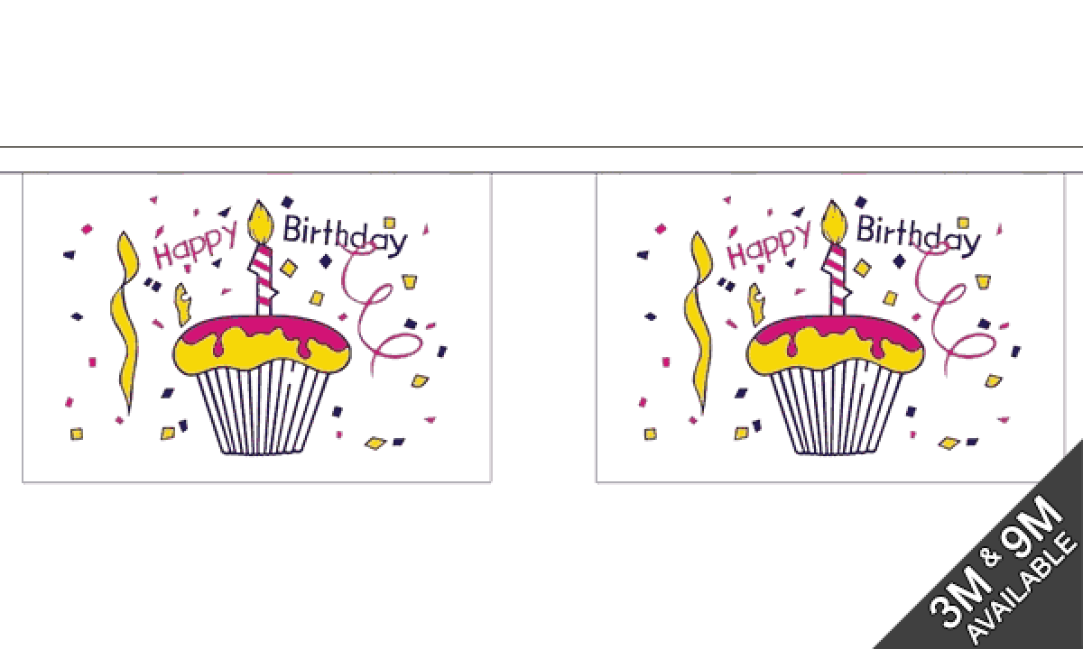 Stupendous Happy Birthday Cake Bunting Standard Mrflag Personalised Birthday Cards Paralily Jamesorg