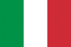 Italian Flag Green White and Red For Sale