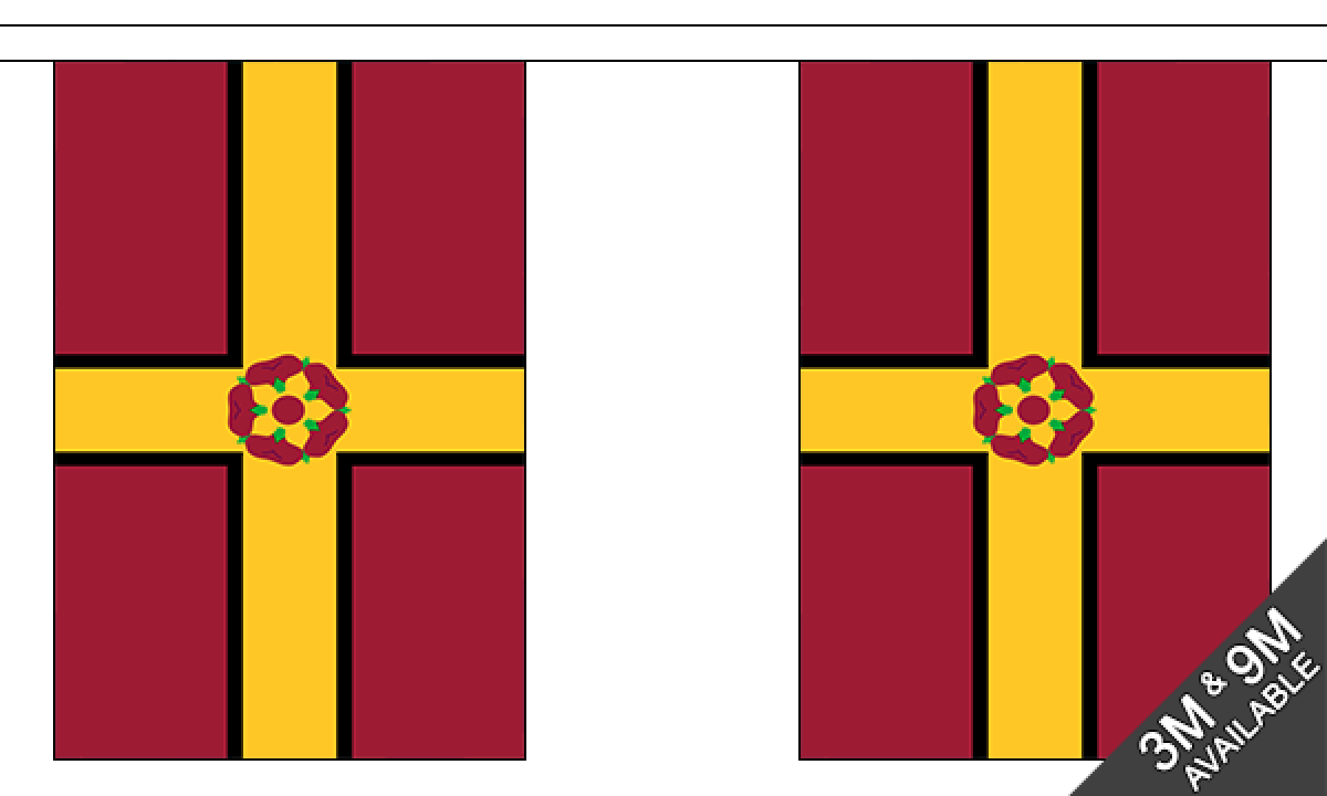 Northamptonshire new 9m Bunting 30 Flags