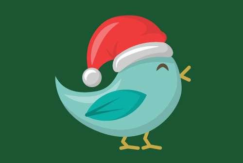 Christmas Bluebird Flag