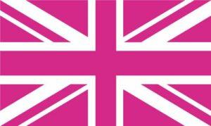 UK Pride Pink Jack Flag