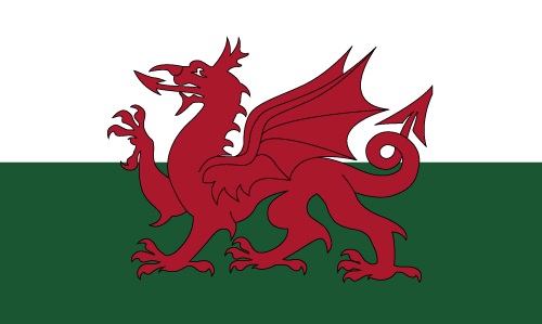 Welsh Flag For Sale Red Dragon on Green and White