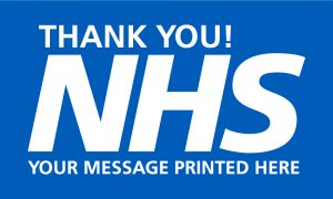 Thank you NHS Outdoor Quality Flag WITH MESSAGE