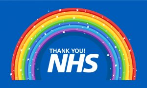 NHS Rainbow Outdoor Quality Flag