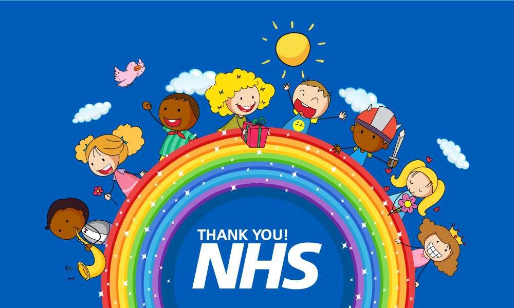 Thank you NHS' Rainbow Outdoor Quality Flag | MrFlag