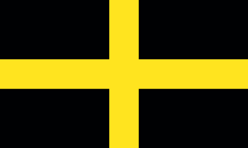 st david's day flag gold cross on black