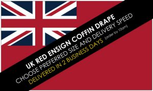 UK Red Ensign Coffin