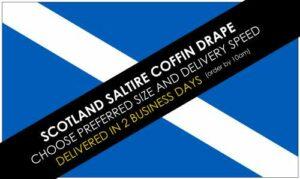 Scotland Saltire Coffin