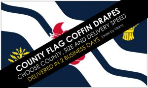 County Flag Coffin Drapes