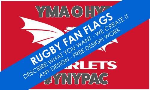 Rugby Fan Flags