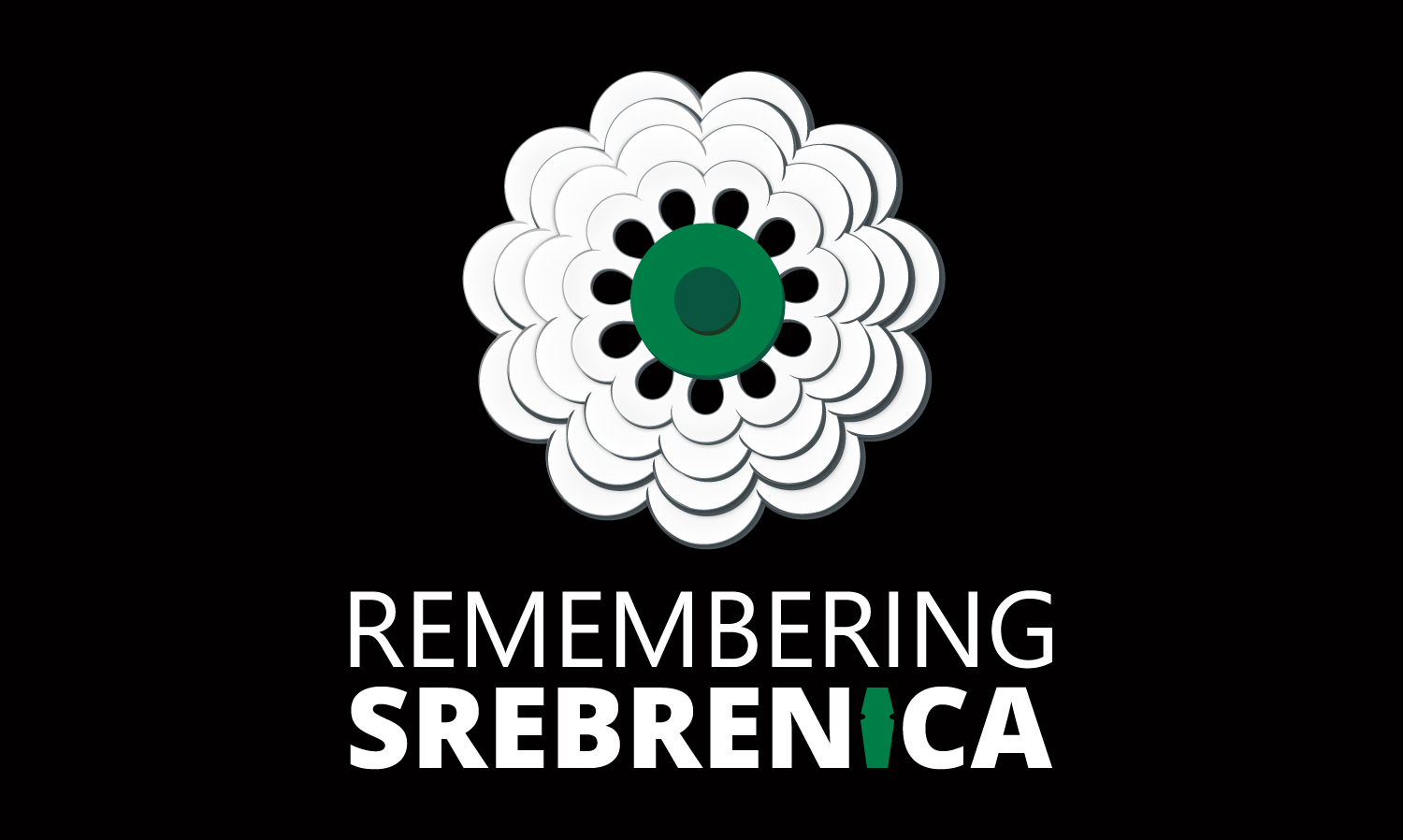 Remembering Srebrenica with a high quality flag.