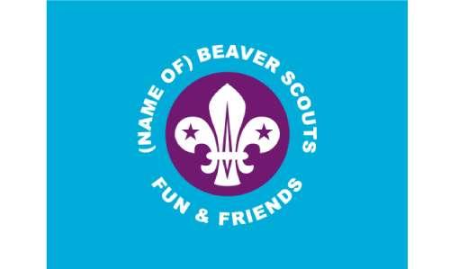 Beaver Scout Parade Flag